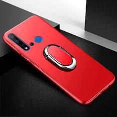 Coque Ultra Fine Silicone Souple Housse Etui avec Support Bague Anneau Aimante Magnetique pour Huawei P20 Lite (2019) Rouge