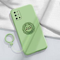Coque Ultra Fine Silicone Souple Housse Etui avec Support Bague Anneau Aimante Magnetique pour OnePlus 8T 5G Pastel Vert