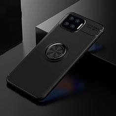 Coque Ultra Fine Silicone Souple Housse Etui avec Support Bague Anneau Aimante Magnetique pour Oppo A73 (2020) Noir