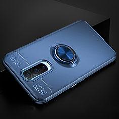 Coque Ultra Fine Silicone Souple Housse Etui avec Support Bague Anneau Aimante Magnetique pour Oppo RX17 Pro Bleu