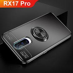 Coque Ultra Fine Silicone Souple Housse Etui avec Support Bague Anneau Aimante Magnetique pour Oppo RX17 Pro Noir