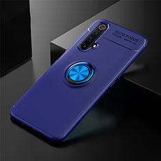 Coque Ultra Fine Silicone Souple Housse Etui avec Support Bague Anneau Aimante Magnetique pour Realme X3 Bleu