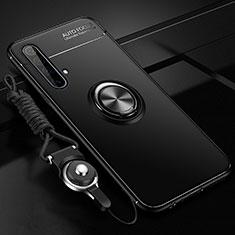 Coque Ultra Fine Silicone Souple Housse Etui avec Support Bague Anneau Aimante Magnetique pour Realme X3 SuperZoom Noir