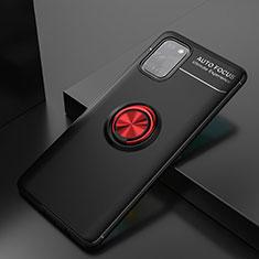 Coque Ultra Fine Silicone Souple Housse Etui avec Support Bague Anneau Aimante Magnetique pour Samsung Galaxy A31 Rouge et Noir