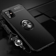 Coque Ultra Fine Silicone Souple Housse Etui avec Support Bague Anneau Aimante Magnetique pour Samsung Galaxy A51 4G Noir