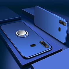 Coque Ultra Fine Silicone Souple Housse Etui avec Support Bague Anneau Aimante Magnetique pour Samsung Galaxy A6s Bleu