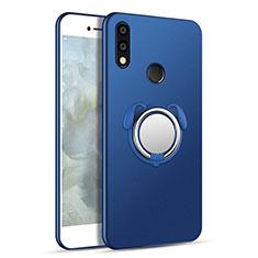 Coque Ultra Fine Silicone Souple Housse Etui avec Support Bague Anneau Aimante Magnetique pour Samsung Galaxy A8s SM-G8870 Bleu