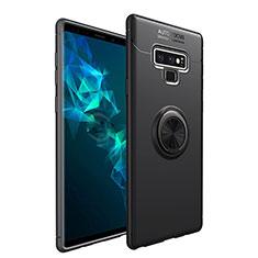 Coque Ultra Fine Silicone Souple Housse Etui avec Support Bague Anneau Aimante Magnetique pour Samsung Galaxy Note 9 Noir