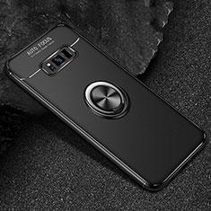 Coque Ultra Fine Silicone Souple Housse Etui avec Support Bague Anneau Aimante Magnetique pour Samsung Galaxy S8 Noir