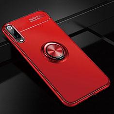 Coque Ultra Fine Silicone Souple Housse Etui avec Support Bague Anneau Aimante Magnetique pour Xiaomi CC9e Rouge