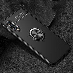 Coque Ultra Fine Silicone Souple Housse Etui avec Support Bague Anneau Aimante Magnetique pour Xiaomi Mi 9 Pro 5G Noir