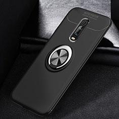 Coque Ultra Fine Silicone Souple Housse Etui avec Support Bague Anneau Aimante Magnetique pour Xiaomi Mi 9T Noir