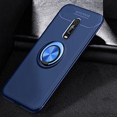 Coque Ultra Fine Silicone Souple Housse Etui avec Support Bague Anneau Aimante Magnetique pour Xiaomi Mi 9T Pro Bleu