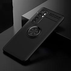 Coque Ultra Fine Silicone Souple Housse Etui avec Support Bague Anneau Aimante Magnetique pour Xiaomi Mi Note 10 Lite Noir
