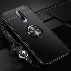 Coque Ultra Fine Silicone Souple Housse Etui avec Support Bague Anneau Aimante Magnetique pour Xiaomi Poco X2 Noir