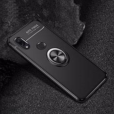 Coque Ultra Fine Silicone Souple Housse Etui avec Support Bague Anneau Aimante Magnetique pour Xiaomi Redmi Note 7 Noir