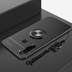 Coque Ultra Fine Silicone Souple Housse Etui avec Support Bague Anneau Aimante Magnetique pour Xiaomi Redmi Note 8T Noir