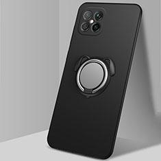 Coque Ultra Fine Silicone Souple Housse Etui avec Support Bague Anneau Aimante Magnetique T01 pour Huawei Nova 8 SE 5G Noir
