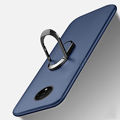 Coque Ultra Fine Silicone Souple Housse Etui avec Support Bague Anneau Aimante Magnetique T01 pour OnePlus 7T Bleu