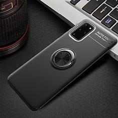 Coque Ultra Fine Silicone Souple Housse Etui avec Support Bague Anneau Aimante Magnetique T01 pour Samsung Galaxy S20 Plus Noir