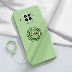 Coque Ultra Fine Silicone Souple Housse Etui avec Support Bague Anneau Aimante Magnetique T01 pour Xiaomi Mi 10T Lite 5G Pastel Vert