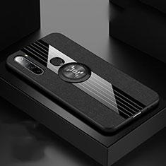 Coque Ultra Fine Silicone Souple Housse Etui avec Support Bague Anneau Aimante Magnetique T01 pour Xiaomi Redmi Note 8 Noir