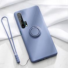 Coque Ultra Fine Silicone Souple Housse Etui avec Support Bague Anneau Aimante Magnetique T02 pour Huawei Honor 20 Pro Bleu