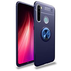 Coque Ultra Fine Silicone Souple Housse Etui avec Support Bague Anneau Aimante Magnetique T02 pour Xiaomi Redmi Note 8T Bleu