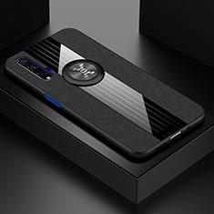 Coque Ultra Fine Silicone Souple Housse Etui avec Support Bague Anneau Aimante Magnetique T03 pour Huawei Honor 20 Noir