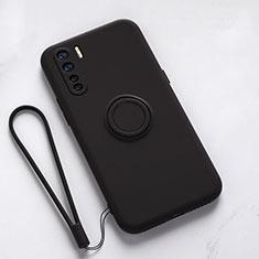 Coque Ultra Fine Silicone Souple Housse Etui avec Support Bague Anneau Aimante Magnetique T03 pour Oppo Find X2 Lite Noir