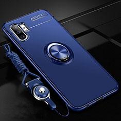 Coque Ultra Fine Silicone Souple Housse Etui avec Support Bague Anneau Aimante Magnetique T03 pour Samsung Galaxy Note 10 Plus 5G Bleu