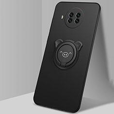 Coque Ultra Fine Silicone Souple Housse Etui avec Support Bague Anneau Aimante Magnetique T03 pour Xiaomi Mi 10T Lite 5G Noir