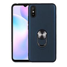 Coque Ultra Fine Silicone Souple Housse Etui avec Support Bague Anneau Aimante Magnetique T03 pour Xiaomi Redmi 9A Bleu Royal