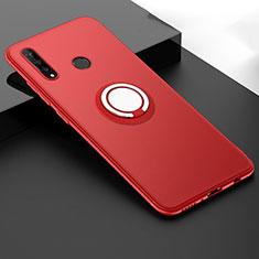 Coque Ultra Fine Silicone Souple Housse Etui avec Support Bague Anneau Aimante Magnetique T04 pour Huawei P30 Lite New Edition Rouge