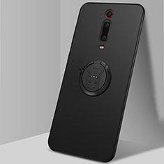 Coque Ultra Fine Silicone Souple Housse Etui avec Support Bague Anneau Aimante Magnetique T04 pour Xiaomi Mi 9T Pro Noir