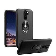 Coque Ultra Fine Silicone Souple Housse Etui avec Support Bague Anneau Aimante Magnetique T05 pour Xiaomi Redmi Note 8 Pro Noir