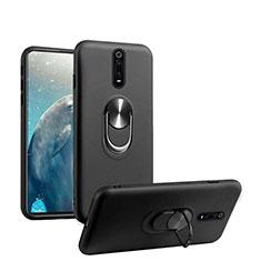 Coque Ultra Fine Silicone Souple Housse Etui avec Support Bague Anneau Aimante Magnetique T08 pour Xiaomi Mi 9T Pro Noir