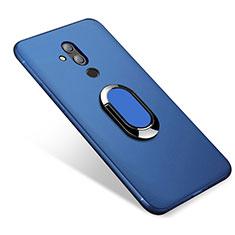 Coque Ultra Fine Silicone Souple Housse Etui avec Support Bague Anneau Aimante pour Huawei Maimang 7 Bleu