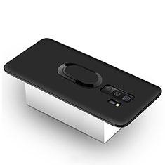 Coque Ultra Fine Silicone Souple Housse Etui avec Support Bague Anneau Aimante pour Samsung Galaxy S9 Plus Noir