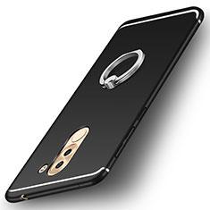 Coque Ultra Fine Silicone Souple Housse Etui avec Support Bague Anneau pour Huawei Honor 6X Pro Noir