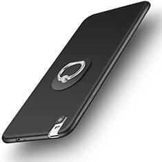 Coque Ultra Fine Silicone Souple Housse Etui avec Support Bague Anneau pour Huawei Honor 7i shot X Noir