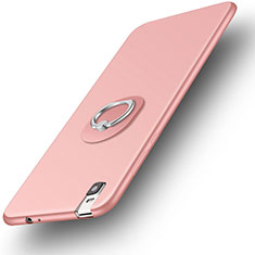 Coque Ultra Fine Silicone Souple Housse Etui avec Support Bague Anneau pour Huawei Honor 7i shot X Or Rose