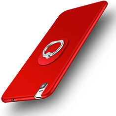 Coque Ultra Fine Silicone Souple Housse Etui avec Support Bague Anneau pour Huawei Honor 7i shot X Rouge