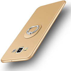 Coque Ultra Fine Silicone Souple Housse Etui avec Support Bague Anneau pour Samsung Galaxy A3 Duos SM-A300F Or