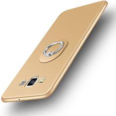 Coque Ultra Fine Silicone Souple Housse Etui avec Support Bague Anneau pour Samsung Galaxy A3 SM-300F Or