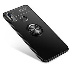 Coque Ultra Fine Silicone Souple Housse Etui avec Support Bague Anneau pour Xiaomi Mi 6X Noir