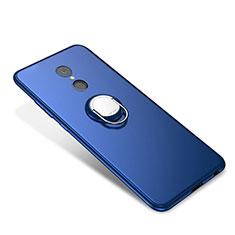 Coque Ultra Fine Silicone Souple Housse Etui avec Support Bague Anneau pour Xiaomi Redmi 5 Bleu