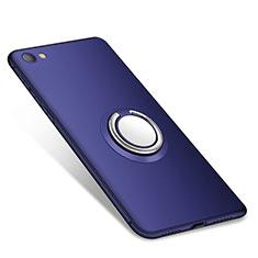 Coque Ultra Fine Silicone Souple Housse Etui avec Support Bague Anneau pour Xiaomi Redmi Note 5A Standard Edition Bleu