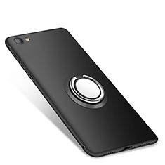 Coque Ultra Fine Silicone Souple Housse Etui avec Support Bague Anneau pour Xiaomi Redmi Note 5A Standard Edition Noir