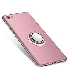 Coque Ultra Fine Silicone Souple Housse Etui avec Support Bague Anneau pour Xiaomi Redmi Note 5A Standard Edition Rose